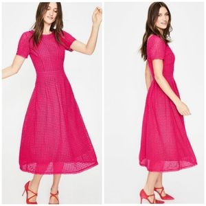 Boden | Julieta Cotton Lace Fit&Flare Midi Dress